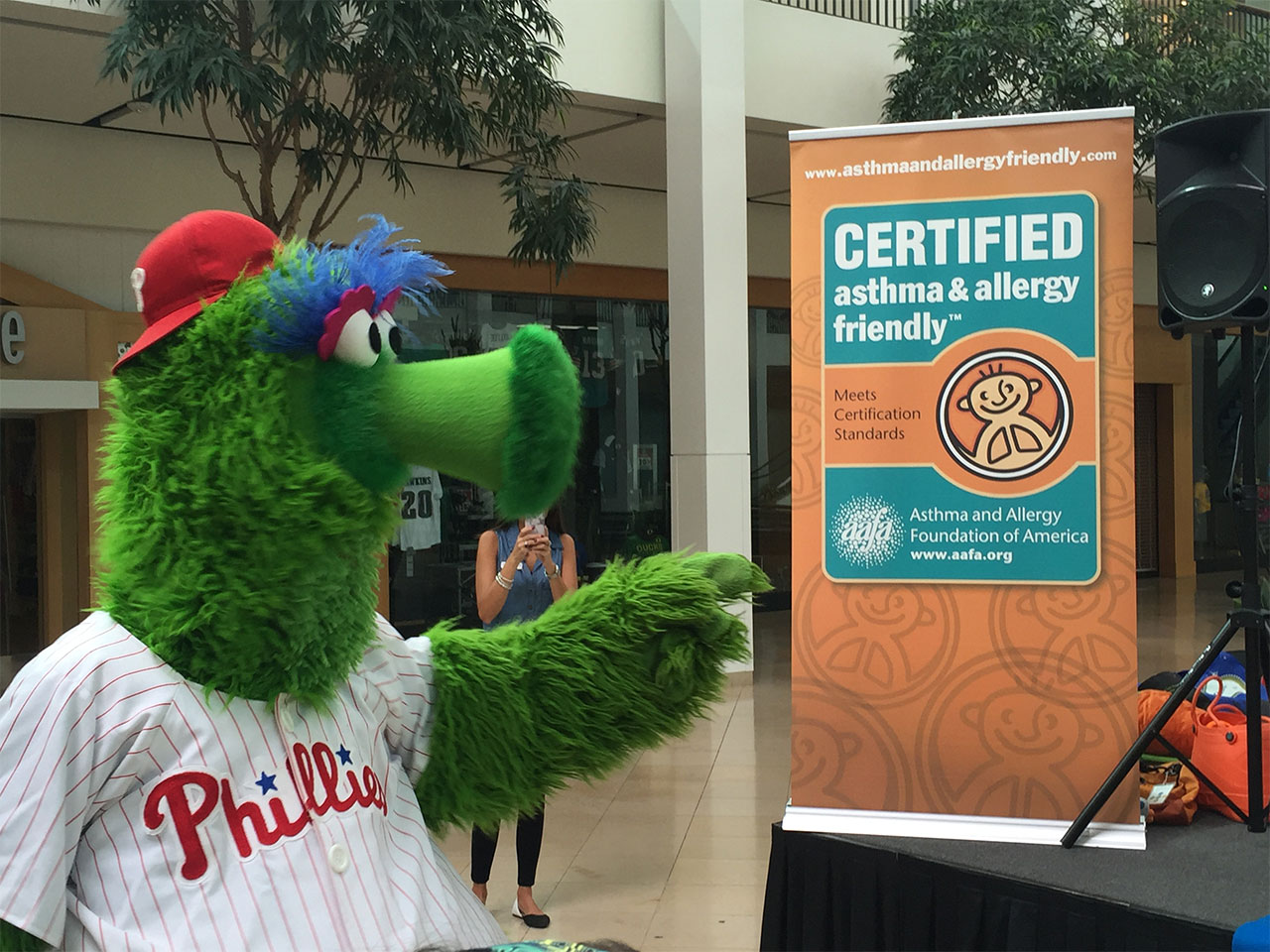 Phillies Phanatic asthma and allergy friendly