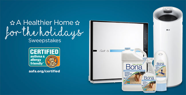 Enter to Win for a Healthier Home for the Holidays